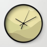 Minimal Meadow Day Wall Clock