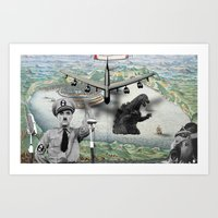 The madness of war Art Print