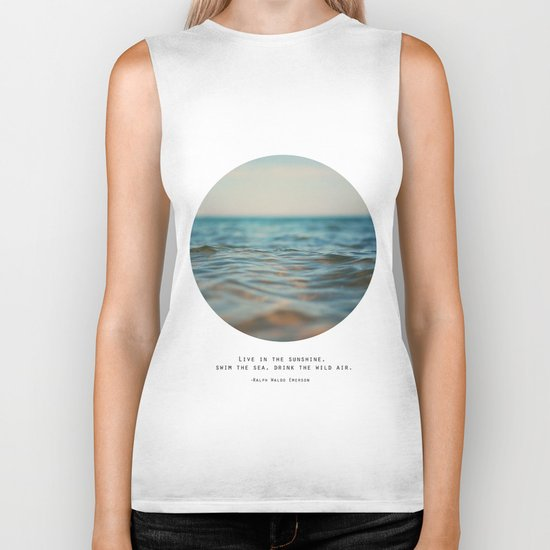 Swim The Sea Biker Tank