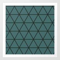 Large triangle pattern Art Print