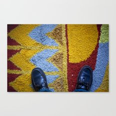 Shoes Rug Canvas Print
