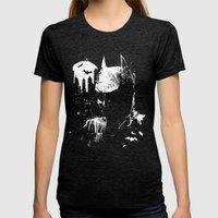 The Dark Knight Womens Fitted Tee Tri-Black SMALL