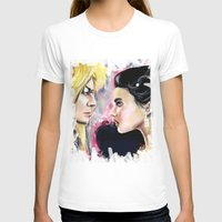 Jareth and Sarah Womens Fitted Tee White SMALL