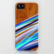 Wooden Waves Blue iPhone (5, 5s) Slim Case