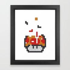 Super Mario Mushroom Tet… Framed Art Print