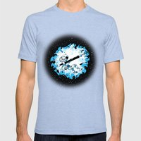 AstroINK Mens Fitted Tee Tri-Blue SMALL