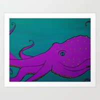 Cornelius the Octopus Art Print