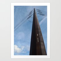 Abandoned Village Electr… Art Print