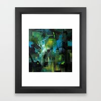 Things to Remember During a Flood - Abstract cityscape Framed Art Print