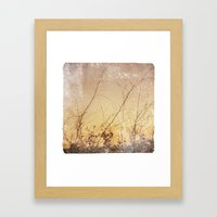 Sea Plants (gold) Framed Art Print