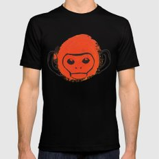 Monkey Mens Fitted Tee Black SMALL
