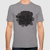 BLACK HANDS Mens Fitted Tee Athletic Grey SMALL