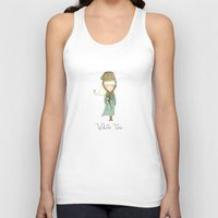 White Tea Girl Unisex Tank Top