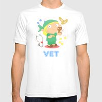 Vet Mens Fitted Tee White SMALL