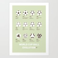 My Evolution Soccer Ball… Art Print