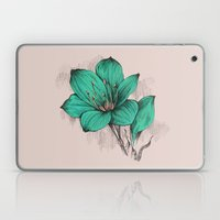 Green Poppy Laptop & iPad Skin