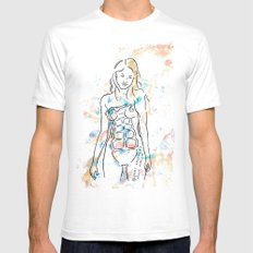 grenade girl White SMALL Mens Fitted Tee