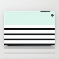 Pinstripe Color Block (Mint) iPad Case