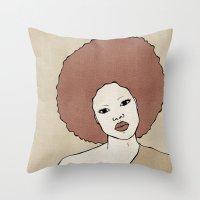 Female Three Throw Pillow