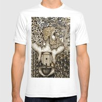 Cycles & Patterns Mens Fitted Tee White SMALL