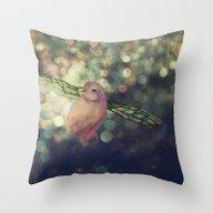 Bird Bug Throw Pillow