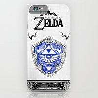 iPhone Cases featuring Zelda legend - Hylian shield by Art et Be