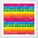 Waves of Rainbows Art Print