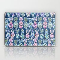 NAVY TRIBAL PINEAPPLES Laptop & iPad Skin