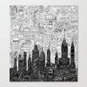 New York Doodle Canvas Print