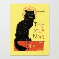 Loup Noir Canvas Print