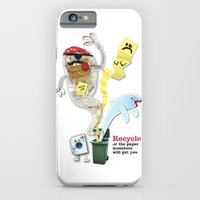 iPhone & iPod Case featuring Recycled Paper Monsters by Joe Pugilist Design