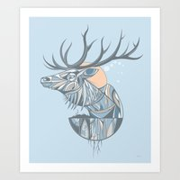 elk root blue Art Print