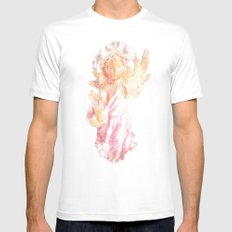 Broken Angel Mens Fitted Tee SMALL White