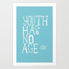 Youth Has No Age (Blue) Art Print
