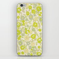 Small Floral In Neon iPhone & iPod Skin