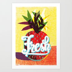 fresh flash Art Print