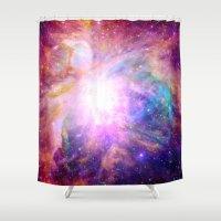 Galaxy Nebula Shower Curtain