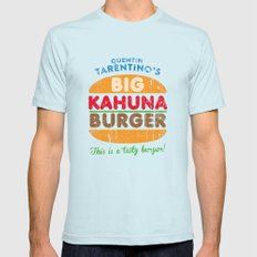 Big Kahuna Burger Mens Fitted Tee Light Blue SMALL