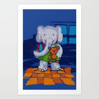 Playing Toys Art Print