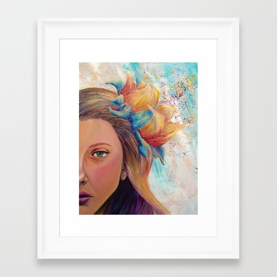 Sweet Self Framed Art Print