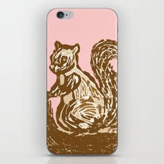 Brown and Pink Squirrel iPhone & iPod Skin