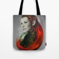 Tote Bag featuring Head Of Elven by Artgerm™
