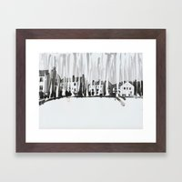 Dribbling Houses Framed Art Print