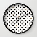 Black Dot Wall Clock