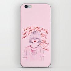 I Fight Like A Girl iPhone & iPod Skin