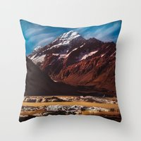 South Island Glacier Throw Pillow