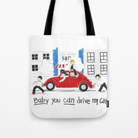 Les Petits - Baby You Can Drive My Car Tote Bag