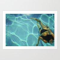 Underwater Pool Selfport… Art Print