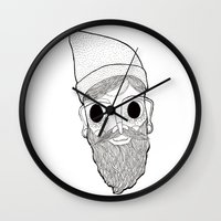 Beard Man Wall Clock
