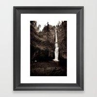 multnomah falls. Framed Art Print